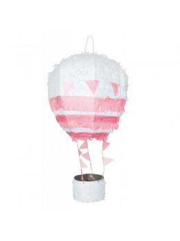 Pinata montgolfière rose