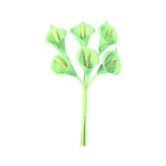 Bouquet Arum vert pastel