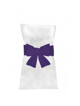 6 Noeuds pour housse de chaise violet