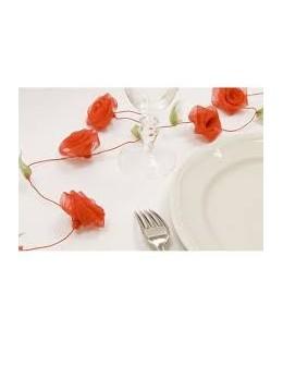 Guirlande de roses rouge