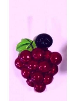 Marque place grappe de raisins rouge sur pince