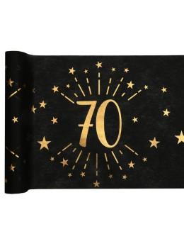 Chemin de table 70 ans noir et or