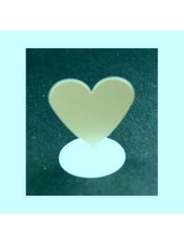 12 Marque place coeur aimanté ivoire