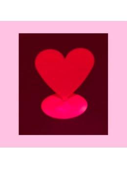 12 Marque place coeur aimanté rouge
