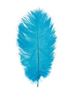 Plume autruche turquoise 28/30cm