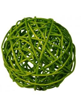 30 boules rotin vert