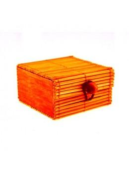 6 Boîtes bambou orange