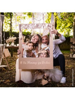 Kit photobooth mariage +cadre