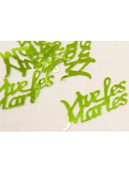 Confetti Vive les mariés vert