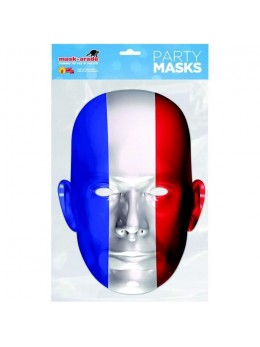 Masque carton supporter Tricolore