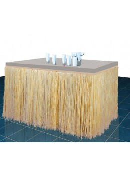Décoration tour de table raphia