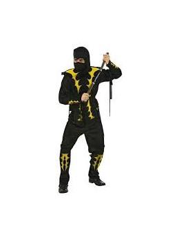 Déguisement ninja noir et jaune