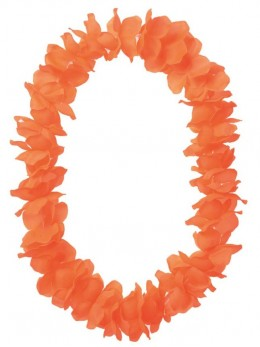 Collier grosses fleurs orange