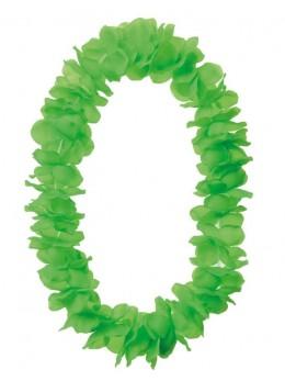 Collier hawai grosses fleurs vert