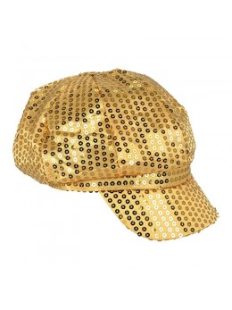 Casquette disco sequin or