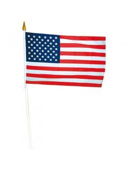 12 drapeaux USA tissu 15x23cm