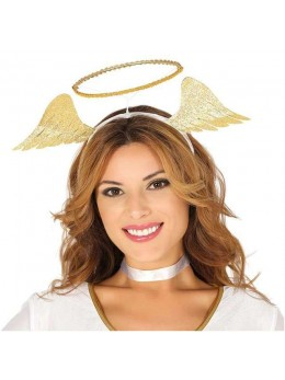 Serre tête ange doré