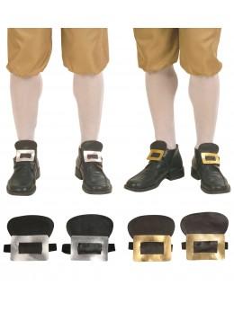 Boucles chaussures époque tissu