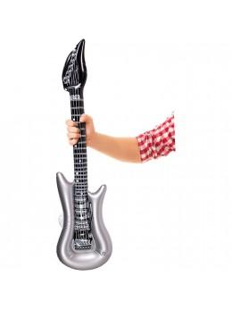 Guitare électrique gonflable argent