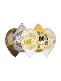 10 ballons 100 ans métallisés