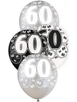 6 ballons 60 ans VIP