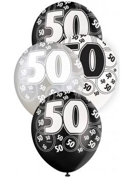 6 ballons 50 ans VIP
