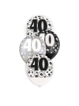 6 ballons 40 ans VIP