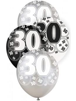 6 ballons 30 ans VIP