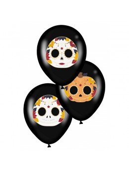 6 ballons Halloween Dia de los muertos