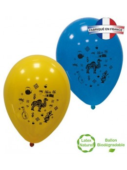 10 Ballons ambiance orientale 30cm