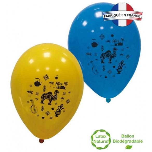 10 Ballons ambiance orientale 30cm