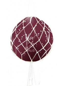 Ballon géant Vive les mariés avec filet