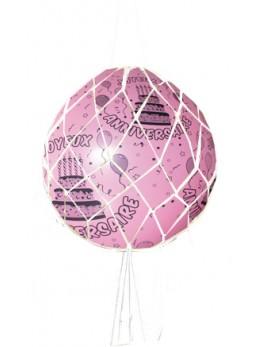Ballon géant Anniversaire avec filet