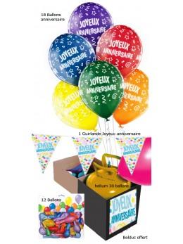Kit anniversaire Ballons volants