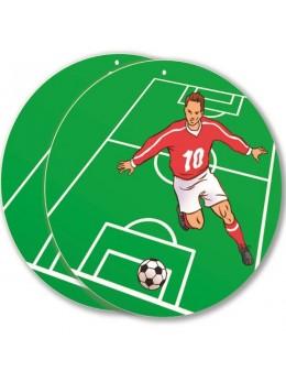 Déco carton footballeur 30cm