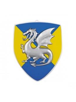 Déco bouclier motif dragon 53cm
