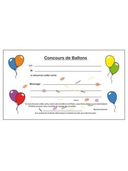 100 Cartes lacher de ballons