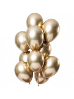 12 Ballons premium shine gold