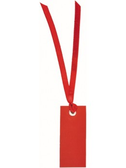 12 Marque place rectangle ruban rouge
