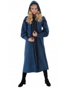 Cape à capuche bleue