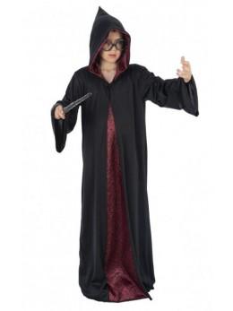 Déguisement manteau de sorcier bordeaux