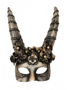 Masque loup Démon bronze