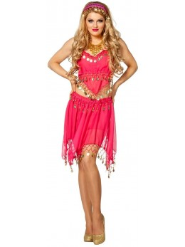 Set déguisement danseuse orientale rose