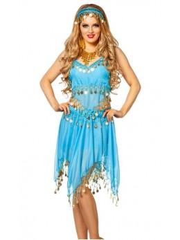 Set déguisement danseuse orientale turquoise