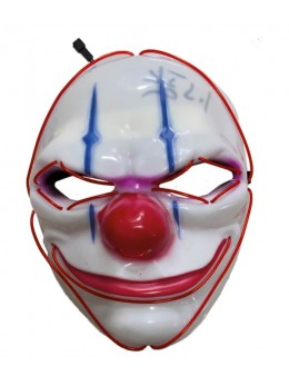 Masque de clown lumineux