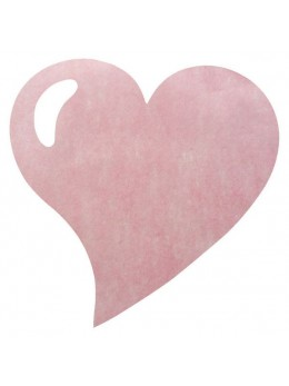50 Sets de table coeur rose pastel