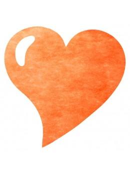50 Sets de table coeur orange