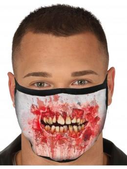 Masque tissu bouche zombie