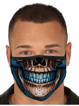 Masque tissu bouche squelette