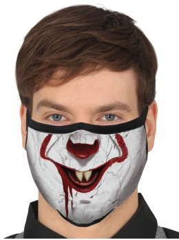 Masque tissu clown killer
